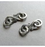 S-Haken Verschluss Silber - 20 mm