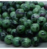 Rubin-Zoisit Perle 6,5 mm