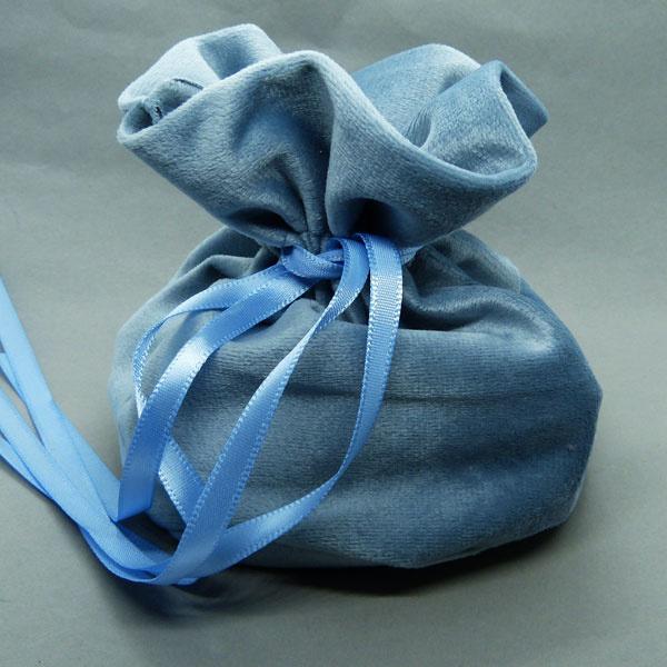 Schmuck Beutel hellblau 14 cm