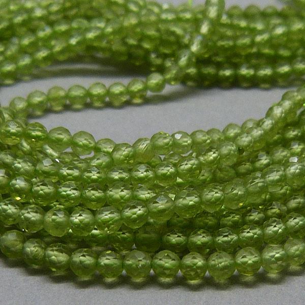 Peridot Perlen Strang  - 2 mm