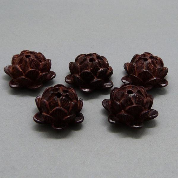 Sandelholz Lotus Perle - 20 mm - rotbraun