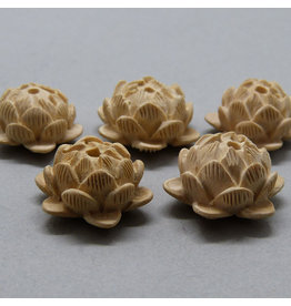 Sandelholz Lotus Perle - 20 mm