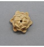 Sandelholz Lotus Perle - 20 mm - sandfarben