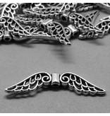 Metall Perle Flügelform - 30 mm