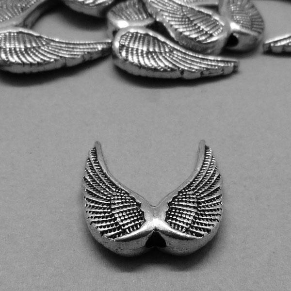 Metall Perle Flügelform - 19 mm