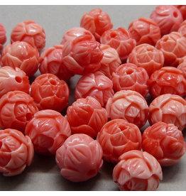 Lotus Perle 10 mm - korallen rosa