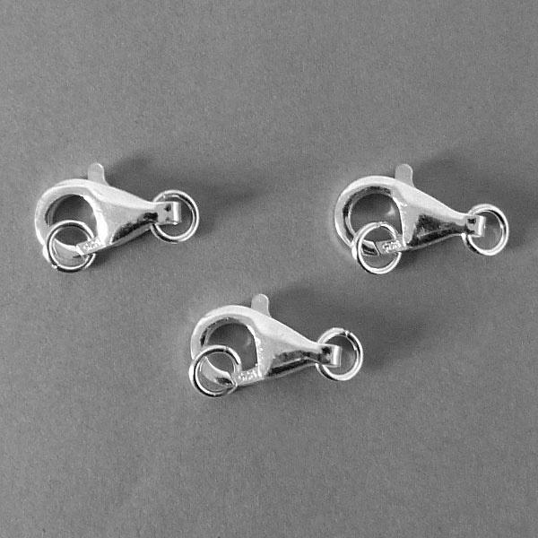 Karabiner Verschluss - Sterling Silber  - 12 mm