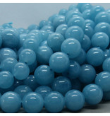 Blau Quarz Perle 8 mm