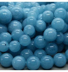 Blau Quarz Perle 6 mm