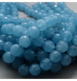 Blau Quarz Perle 6 mm - facettiert