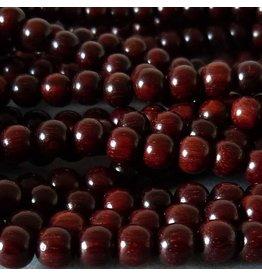 Sandelholz Perle 10 mm - rot braun
