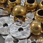 Metall Perlen,  Crimp Perlen,  Perlen Kappen, Spalt Ringe