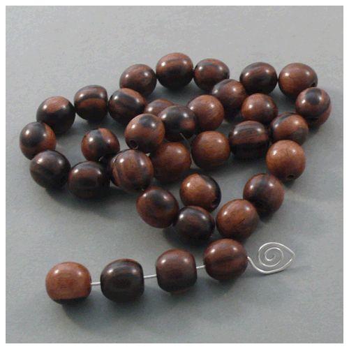 Kamagong Holz Perle 15 mm