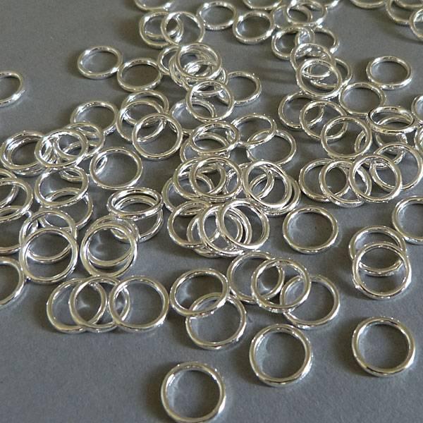 Binde Ring 10 mm - geschlossen - versilbert
