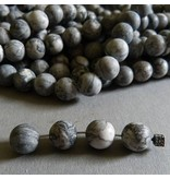 Netzstein Jaspis Perle 10 mm - matt