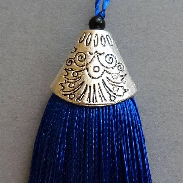 Quaste - royal blau - 80 mm