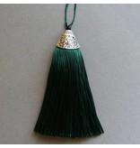 Quaste - tannen grün - 80 mm