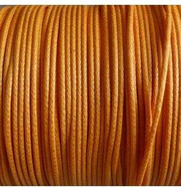 1 Meter Baumwollband - 1 mm orange