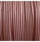 Baumwollband - 1 mm gewachst rosa