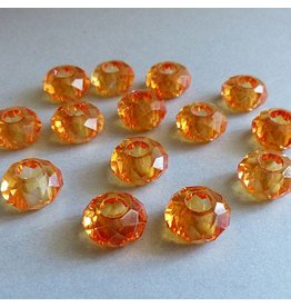 Glas Perle - orange 14 mm
