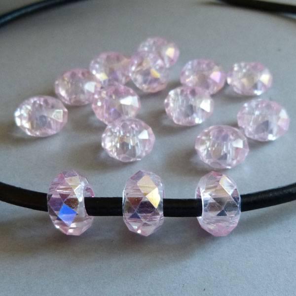 Glas Perle - rosa 14 mm