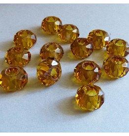 Glas Perle - rehbraun 14 mm