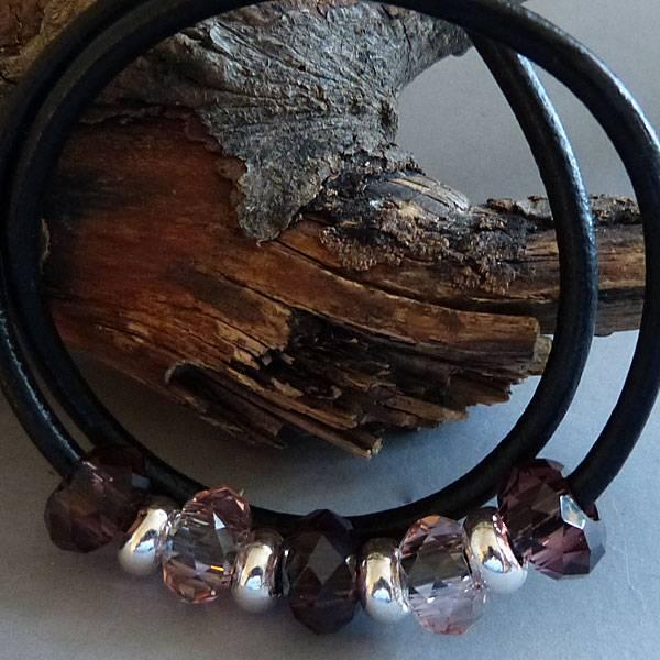 Glas Perle - flieder 14 mm