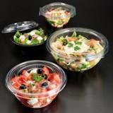 Deksel t.b.v saladebowl  Ø18cm transparant pak à 50 t.b.v. 110.48
