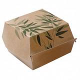 "Garcia de Pou Hamburgerbox giant ""Feel Green"" karton bruin 17x17x8cm pak à 50"