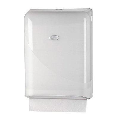 Euro pearl white handdoekdispenser t.b.v. Z-vouw en multi folded
