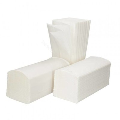 Handdoek Z fold z-vouw 21x24cm 2 laags tissue wit  20x160=3200 stuks
