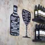 Krijtbord voor op muur wijnglas 30 x 50 cm