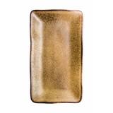 Q Authentic Stonebrown rechthoekig bord 27,5x15,5cm doos à 6