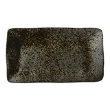 Q Authentic Stoneblack rechthoekig bord 27,5x15,5cm doos à 6