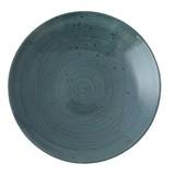 Continental Rustic blauw coupe bord plat Ø19cm doos à 6