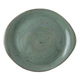 Continental Rustic donkergroen pebble bord plat Ø25,5cm doos à 6