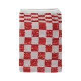 Keukendoek Volendam Pro badstof rood/wit geblokt 50x50cm pak à 6 //