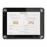 Posterframe menukaarthouder A4 zwart voor gebruik op het raam // tweezijdig te gebruiken