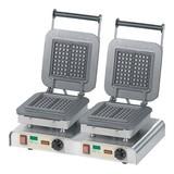 Neumärker bakapparaat dubbel te gebruiken m/wisselbare gietijzeren bakplaten // 400V  4400W  60x32x30(h)cm  excl. platen
