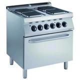 Eelectrolux pro 700 elektrische kookunit 4 platen met elektrische oven
