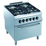 Electrolux pro 900 gas fornuis 4 branders met elektrische oven 3x6kw en 1x10kw