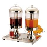 Buffet drankendispenser 2x8ltr rvs acrylic
