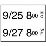 Daymark stickers 2 lijns rol à 750 stuks t.b.v. stickerpistool doos à 8 rol