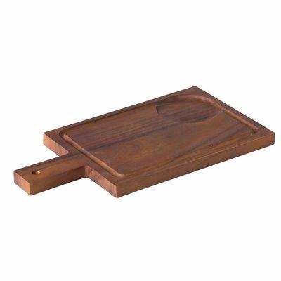 Acacia plank met handvat incl inkeping voor kom