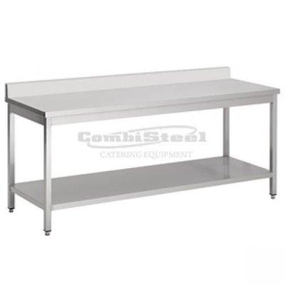 Werktafel met bodemschap en achterrand demontabel 1800x700x850