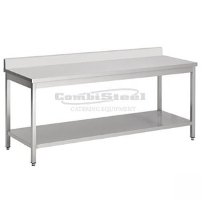Werktafel met bodemschap en achterrand demontabel 1600x700x850