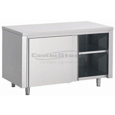 Werktafel met schuifdeuren 1200x700x850