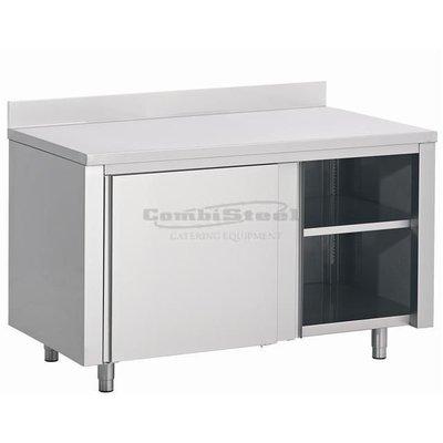 Werktafel met schuifdeuren 1600x700x850