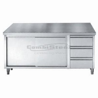 Werktafel met schuifdeuren en lade1600x700x900
