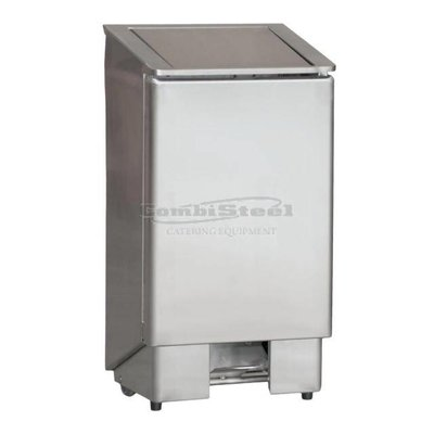 Afvalbak rvs 60 liter met voetpedaal 70200175